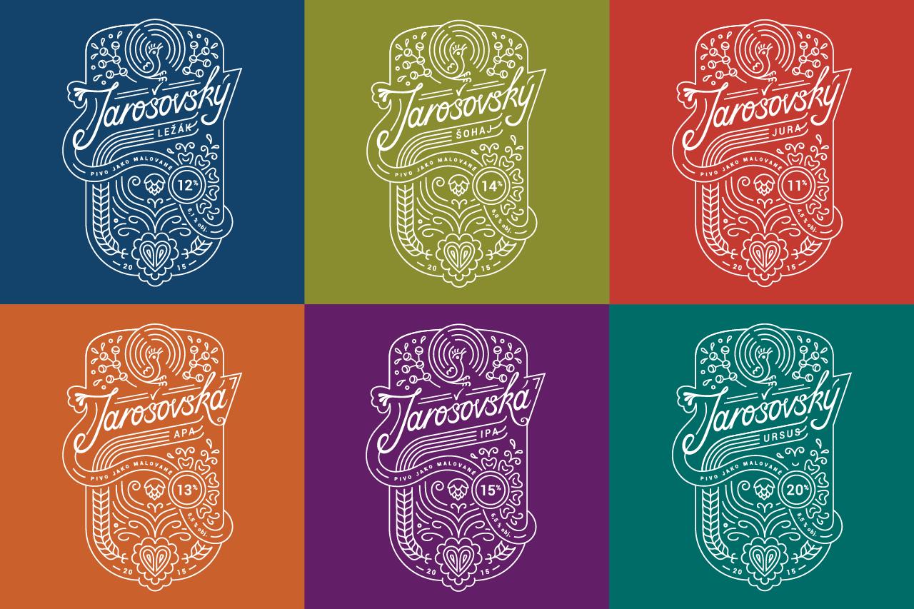Jarosov Brewery — crafting a new visual identity