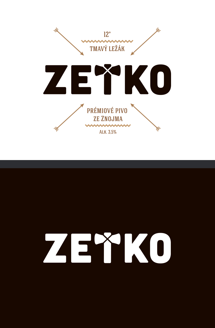 Beer label design for Czech microbreweries
