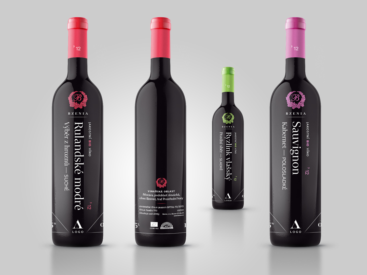 Bzenia Winery 2013 — design of a new vintage for a family operated and owned luxury winery producing organic wines